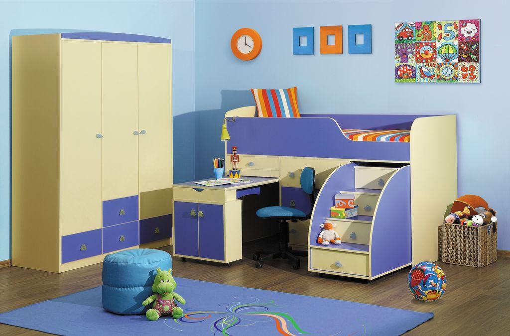 детская кровать Материал ЛДСП Цвет: венге/белфорд.